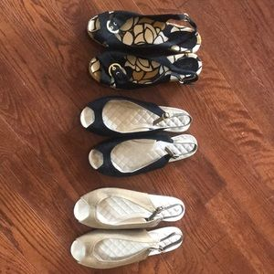 3 Pair of cute slip on Shoes.